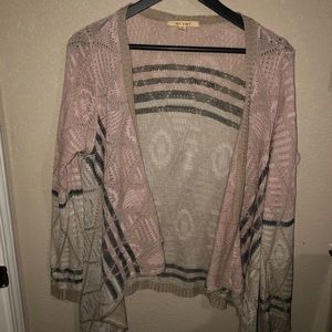 Miami Blush Knit Open Sweater